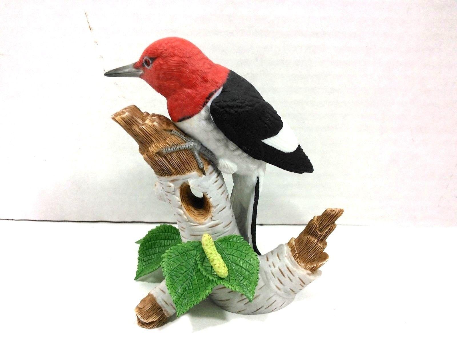 THE LENOX GARDEN BIRD COLLECTION Red Headed Woodpecker (Fine Porcelain 1999) image 4