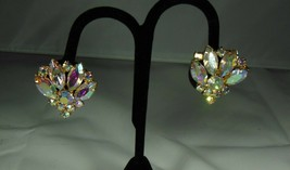 Pink Aurora Borealis Earrings - $9.90