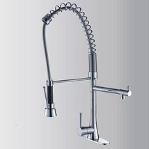 Contemporary Chrome Finish Single Handle Pull Out Kitchen Faucet - $247.45