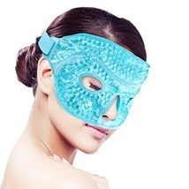 Ice Face/Eye Mask for Woman Man, Hot/Cold Reusable Gel Beads ice Mask wi... - $12.81