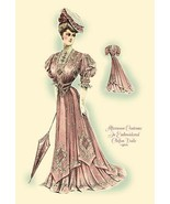 Afternoon Costume in Embroidered Chifon Voile - Art Print - $19.99 - $179.99