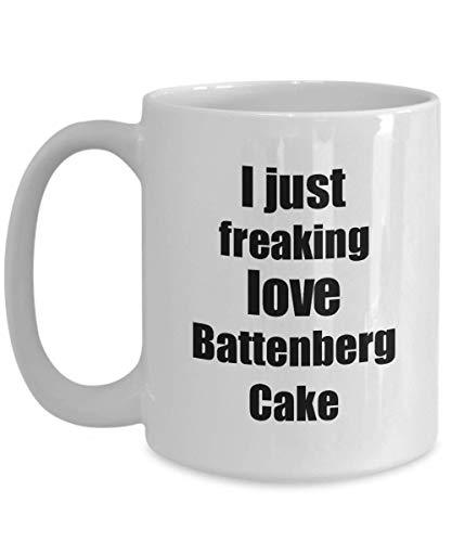 Primary image for Battenberg Cake Lover Mug I Just Freaking Love Funny Gift Idea for Foodie Coffee