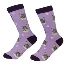 Maine Coon Cat Socks Unisex Dog Cotton/Poly One size fits most - $11.99
