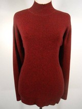 Beautiful Women's Medium Talbots Blended Red Long Sleeve Mock Turtle Swe... - $18.89
