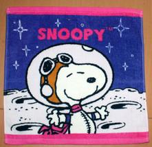 Peanut Cartoon Snoopy Space 34 X 35cm Daily Easy Use Blue Cotton Face Hand Towel - $8.88