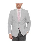 Stafford Linen Cotton Classic Fit Sport Coat Size 52 REG, 54 REG Charcoal   - $39.99