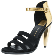 Dolce Vita Women's Neci Sandal Evening Dress shoes 9M Gold Black msrp $189.00 - $42.08