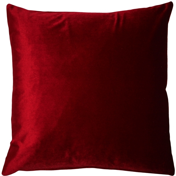 Pillow Decor - Corona Red Velvet Pillow 16x16