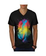 Chameleon Fashion Shirt Lizard Style Men V-Neck T-shirt - $12.99+