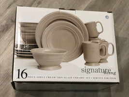 Gibson Signature Living Adele Cream 12-Piece Set, Service for 3 -missing 1 Of Ea - $64.35