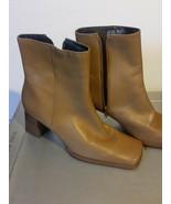 NINE WEST Women's Platform Ankle Boot Leather Tan Size 8M - $75.99