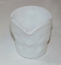 Milk Glass Creamer Federal Heat Proof Colonial Man Pattern Vintage RARE - $16.01
