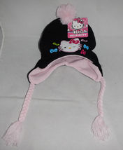 HELLO KITTY KNIT HAT (black and pink) - $8.50