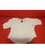 Abercrombie Kids Girl Peasant Top 16 Pastel Pink Textural Sequin Shine B... - $29.69