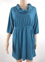 Old Navy 3/4 Sleeves High Waist Casual Dress Women's Blue Size L UC - D801 - $18.29