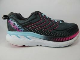Hoka One One Clifton 4 Size US 9.5 M (B) EU 42 Women's Running Shoes Gray 101672