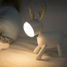 LED Kids Night Light, Cute Puppy/Cat/Elk Soft Silicone Baby Nursery (Elk) - $36.90