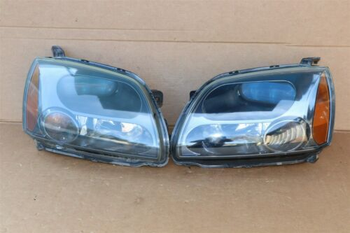 04-09 Mitsubish Galant Ralliart Projector Headlight Lamps Set L&R - POLISHED