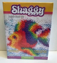"Caron Shaggy Latch Hook Kit ~ Rainbow Fish ~ 12"" x 12 "" New in Package MIP NIP - $42.08"