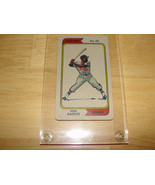 Pesque Hueso Cerveza Hank Aaron Baseball Card Excellent++ Condition - $14.84