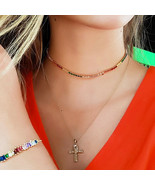 """25.00TCW Color Gemstone Rainbow Tennis Necklace 18"""" Real 925 Sterling Si... - $8.99"""