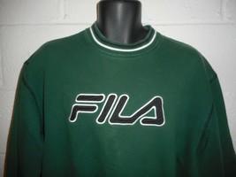 Vintage 90s Hunter Green Fila Embroidered Sweatshirt M/L - $39.99