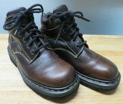 DOC DR. MARTENS 9271 Hiking Ankle Boots lace up Brown Leather Shoe Women... - $39.59
