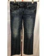 American Eagle AEO Kick Boot Stretch Distressed Jeans Size 2 (27 x 29)  - $12.95