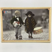 Kim Anderson Black/White Colorized Photo Tender Moments Jigsaw Puzzle 1992 - $20.56