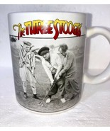 The Three Stooges Coffee Cup Mug Moe Larry Curly Playing Golf Ceramic - $11.11