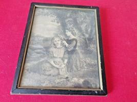 """Vintage """"June Blossoms"""" Wooden Placque Picture 7"""" X 5 12"""" - $24.75"""