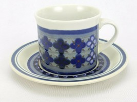 Royal Doulton TANGIER Flat Bottom Cup and Sauce Vintage #LS1005 Pattern - $18.57