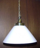 "Pendant Light Fixture w/ Cone White Cased Glass Shade w/ 4"" Fitter X 7 ... - $39.95"