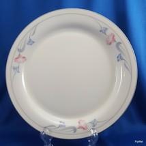 "Lenox Glories on Grey Salad Plate Cream Chinastone Pink Blue Flowers 8-3/8"" - $7.92"
