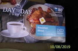 Day to Day Coffee Breakfast Blend Keurig cups 80 count New (K-Cups) - $29.69