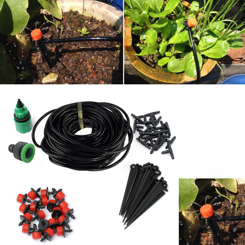 Primary image for Self Water Irrigation Kit Set 5M 25M Micro Drip System Automatic Plant Garden