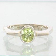 Yellow Green Mali Garnet Handmade 925 Silver Unisex Gents Ladies Ring size 9.5 - £72.90 GBP