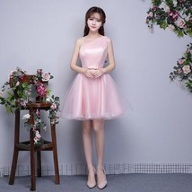 Champagne bridesmaid dress short gown new autumn Korean sisters birthday... - $60.18