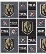 3 1/2 yards NHL Las Vegas Golden Knights 43inch cotton Fabric Crafts Sew... - $45.54