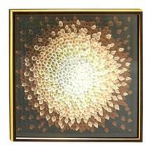 """Benzara Flower Petal Design Wood Framed Fabric Canvas Art   42"""" x 42""""  3... - $252.45"""