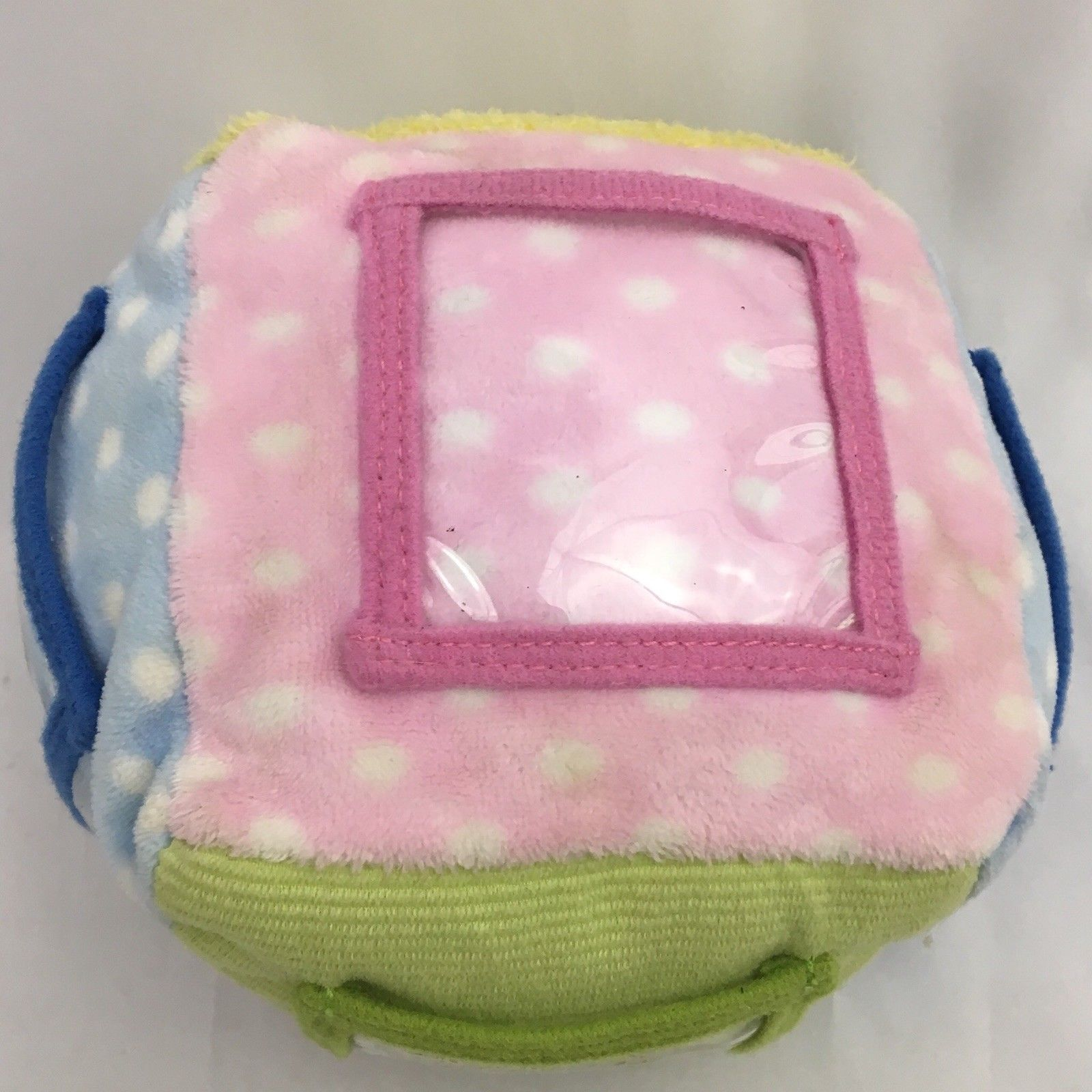Kids Preferred Photo Picture Cube Rattle Plush Baby Toy image 3