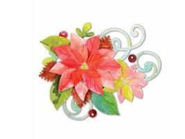 Sizzix Sizzlits Poinsettia Swirls Die Set #658733
