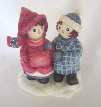 Enesco, Raggedy Ann & Andy, To Have a Friend, Winter Resin Figurine  - $19.99