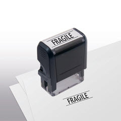 Fragile Stock Title Stamp