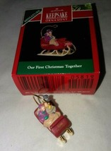 1991 Hallmark Keepsake Miniature Christmas Ornament Our First Christmas ... - $6.99