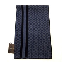 "J-1746119 New Gucci Gray Blue Nile Scarf  40"" x 12"" - £136.30 GBP"