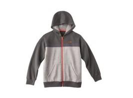 Champion BoysHoodie Sweatshirt Zipper Long Sleeve Gray Orange Medium 8-10 - $12.99