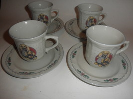 4 Vintage Tabletops Unlimited  rabbits/bunny Coffee Cups saucers - $26.68