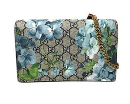6e664d754ffa NEW/AUTH GUCCI 546368 GG Supreme Blooms Mini Chain Bag/Wallet - £938.86
