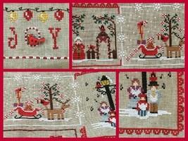 Cardinal Mystery Sampler Part 3 Christmas Carols Joy cross stitch Mani di Donna - $7.20